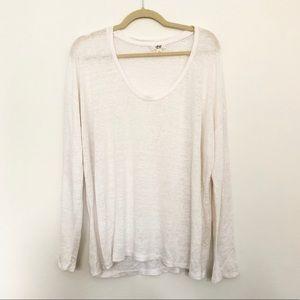 Aritzia | Wilfred Neflier T Shirt 100% Linen | L